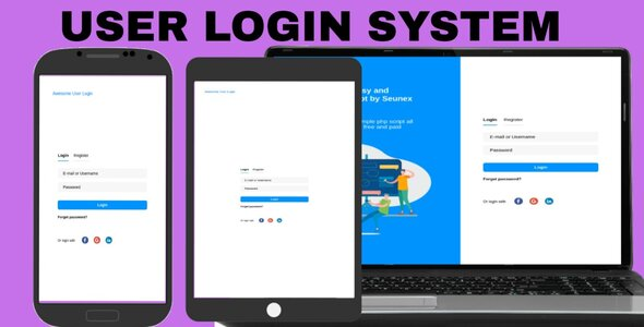 Login php user authentication